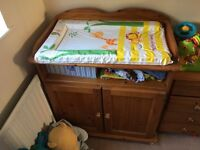 Baby changing unit - solid pine