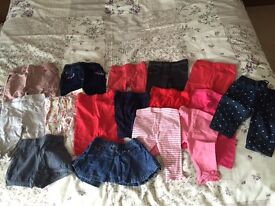 Baby girl 14x autumn trousers/leggings 0-3 months