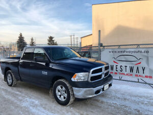 2013 DODGE RAM 1500 ST 4 X 4 HAS 173399 KMS TOUCH SCREEN !