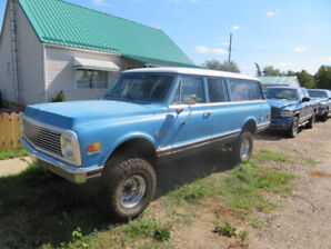 NEW PRICE !!  MUST SELL  !!CLASSIC 1971 CHEV SUBURBAN 4X4
