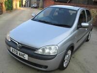 Vauxhall Corsa 1.2i 16v a/c 2001MY SXI 5 Door Good History, Drives Perfectly