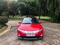 2007 Honda Civic 2.2i-CTDi Type S GT 3 Door Hatchback Red (68,000 Miles)
