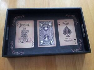 Decorative wooden playing card print theme serving tray NEW London Ontario image 4