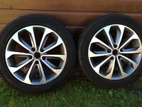 """Nissan qashqai 18 """" alloy wheels and winter tyres"""