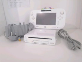 Wii u console and game pad