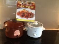 Two slow cookers & cook book