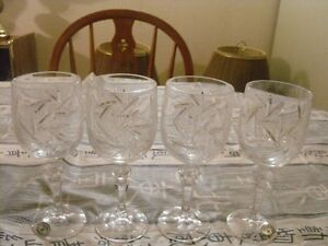 "Bohemian Crystal 7"" Pinwheel wine glasses"