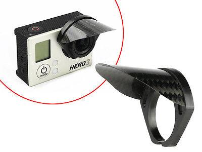 Sun Shade Lens Hood for GoPro HERO 3,3+,4 Carbon Fiber Shade Cap Protection(USA)