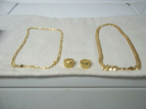GOLD PLATED JEWELLERY   chains / rings