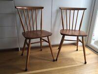 Ercol Original Gold Label Windsor Swept-Back Dinning Chairs Model 737