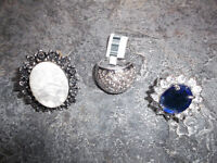 BRAND NEW large rings (size 7) - $7 ea or ALL for $15!