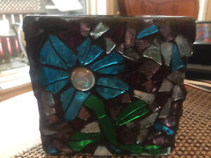 Glass on Glass Mosaic Candle Holder!!