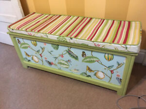 Cedar Toy Box Storage Chest; Ikea Table & Chairs