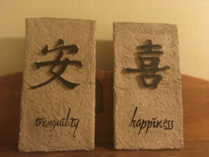 Wall plaques-decor. 2 different sets.