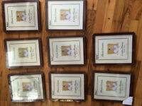 Lot of 16 picture frames, 5 each or 60 for the lot