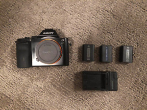 Sony a7 Mark I Mirrorless Body with 3 batteries & charger
