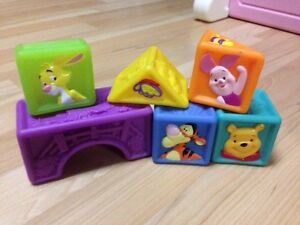 Winnie the Pooh Rubber Stacking Blocks