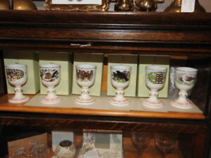 First 6 Royal Dalton 12 days of Christmas goblets discontinued