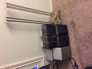 4 speakers and subwoofer