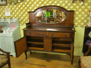Unique Early Sideboard Buffet w/ Mirror London Ontario image 4