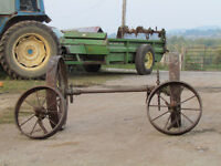 Steel Wagon Wheels - FOR SALE - Set of 4 with rear axle