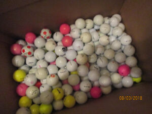 balles de golf récupérées.