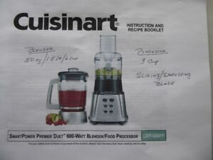 CUISINART BLENDER FOOD PROCESSOR COMBINATION