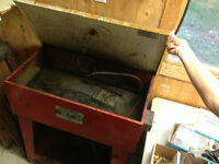 tool cleaner-trolley-hose and commpresser-band saw.
