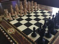 Beautiful Chess Board and Chess Pieces