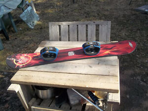 """Very Good Condition: 51""""L Snowboard, Adjustable Foot Rests"""