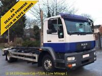 MAN LE14 220 Chasssis Cab+T/Lift Low Mileage 6 speed manual 14Ton 2006/ 06