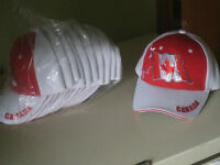 Eleven brand new, good quality Canada Day baseball caps