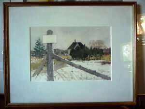 """Early Spring """"Near Eckhardts Corners, Stouffville, Watercolor Stratford Kitchener Area image 1"""
