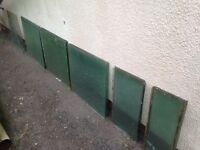 Greenhouse glass panels