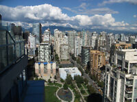 NOW!-Furnished PENTHOUSE Studio-CLEAN-32nd Floor VIEWS-Yaletown
