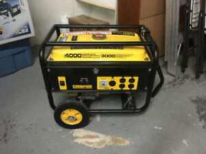 Champion Generator 4000 starting watts/3000 maximum rated watts