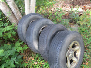 265/70R17 tires on Dodge truck rims for sale!