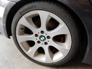 """OEM BMW style 162 18"""" staggered wheels with tires"""