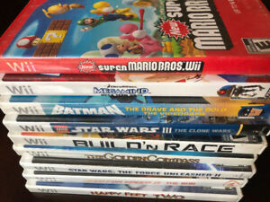 ABOUT 33 Wii GAMES REMAIN, INCLUDING MARIO, DONKEY KONG, ZELDA