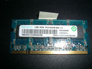 1 GB Laptop Memory