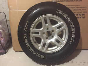 """4 NEW 16""""GENEAL GRABBERS ON FORD RIMS"""