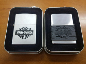 Harley Davidson Collectible Zippo Lighters in Cases