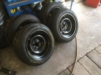 "Vw 14"" 5x100 banded steel wheels polo"