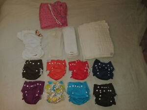 Reusable Cloth/Fabric baby diapers liners one size fits all