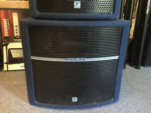 Yorkville-Pulse series PA speakers & matched Powered Subwoofer Kingston Kingston Area image 3