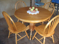 KITCHEN TABLE SET **** STACKABLE CHAIR'S **