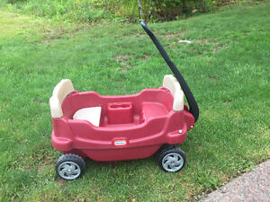 Little Tikes Wagon for 2 with Storage underneath one seat