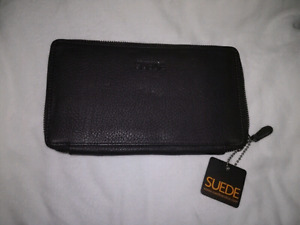 NEW SUEDE (brand) PURPLE WALLET / CLUTCH!!