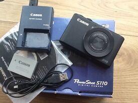 Canon S110 camera boxed MINT