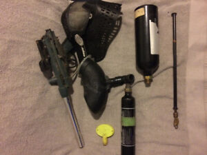 Older Eagle Paintball Gun and Gear